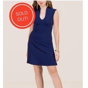 Beautiful navy blue dress from Francesca's
